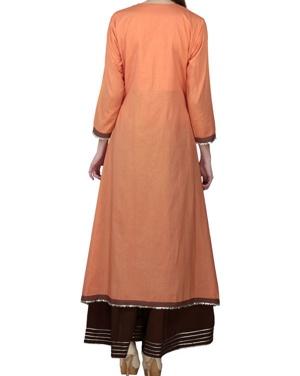 Earthy orange tunic with palazzo 1