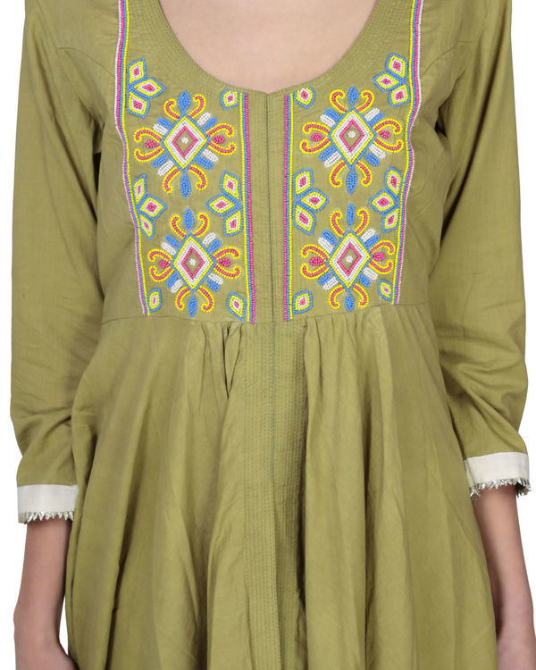Olive green tunic with palazzo 2