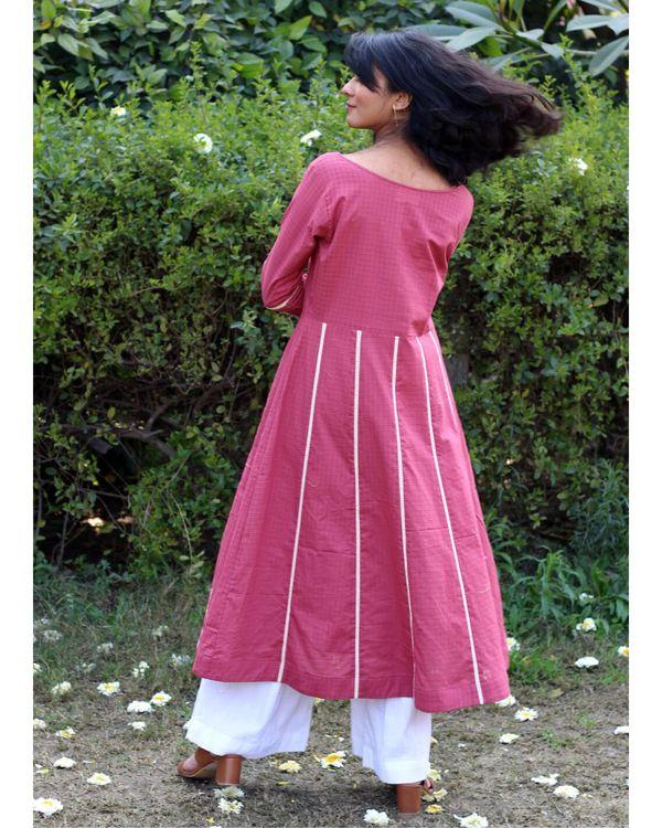 Pink embroidered kurta and palazzo- Set Of Two 3