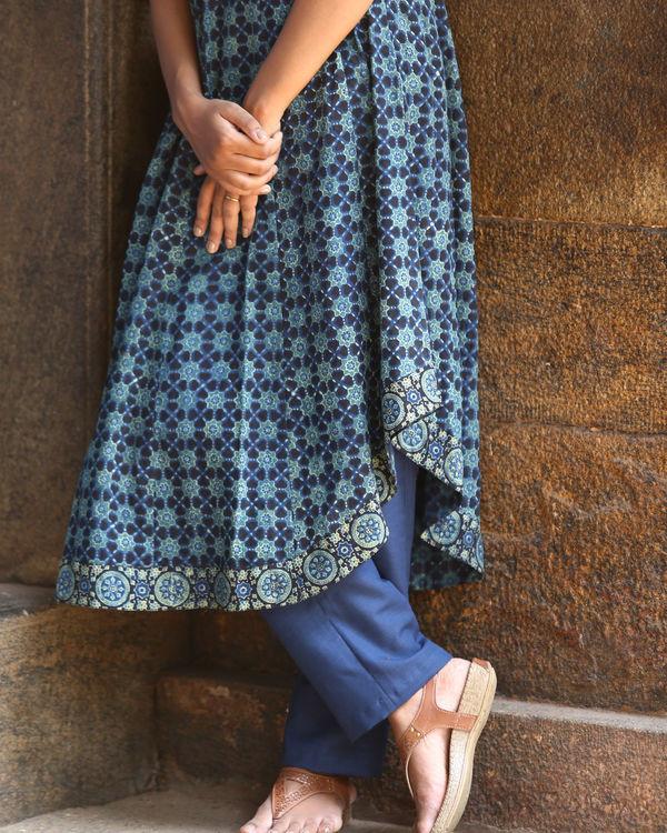 Indigo ajrakh printed tunic 2
