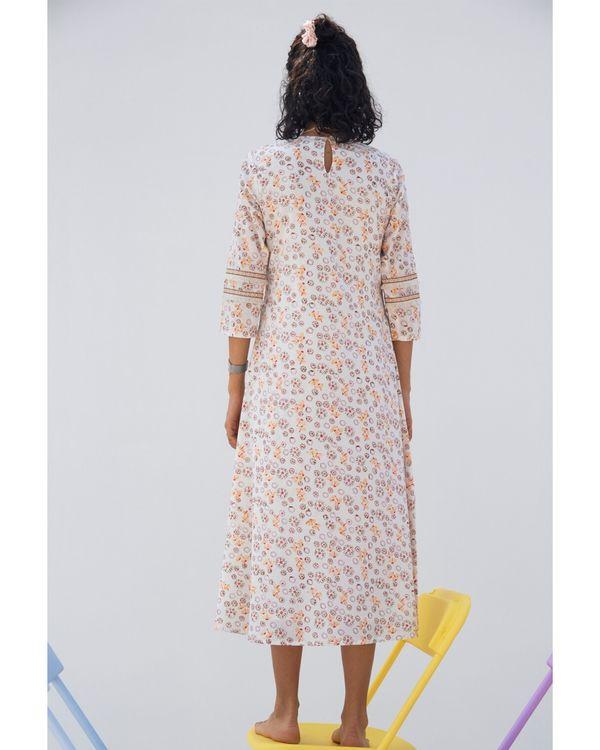 Pink floral tie up pocket dress 3