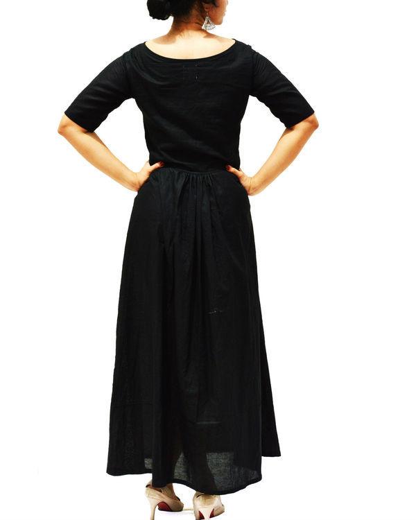Ajrakh panel black maxi dress 1
