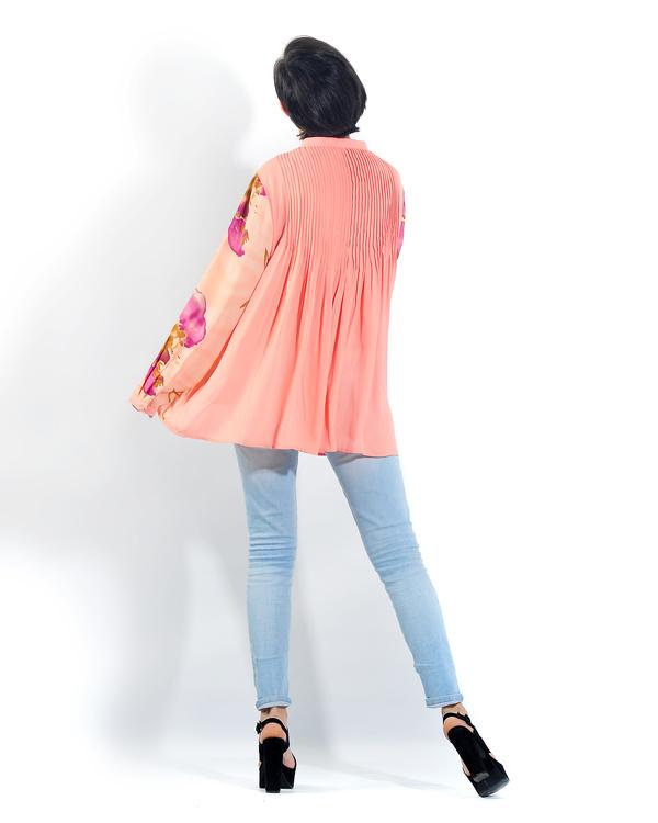 Peach pleated back shirt 1