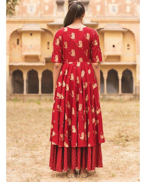 Red flamingo layered dress 3