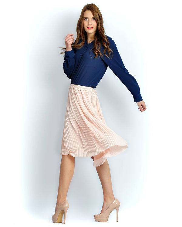 Solid blush skirt 1