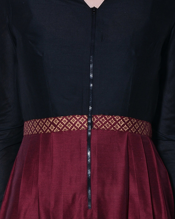 Maroon and black maxi dress 2