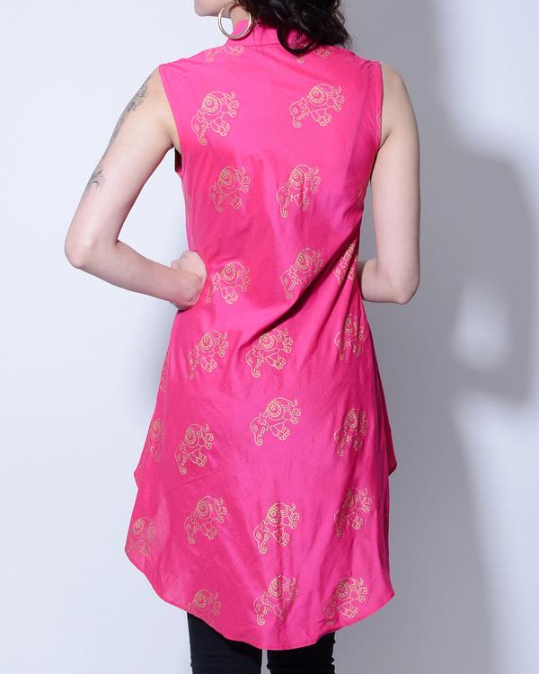 Pink elephant foil printed jacket 2