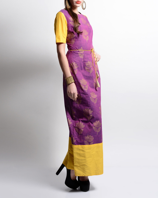 Lotus printed maxi dress 1