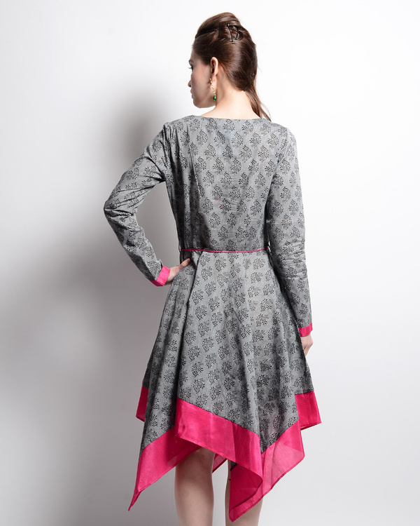 Grey and pink mangalgiri tunic 2