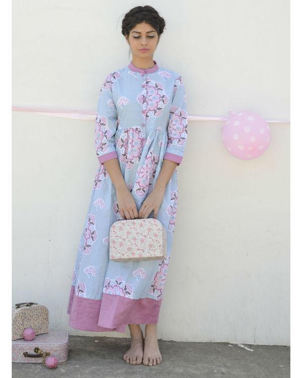 Pastel blue floral dress 1