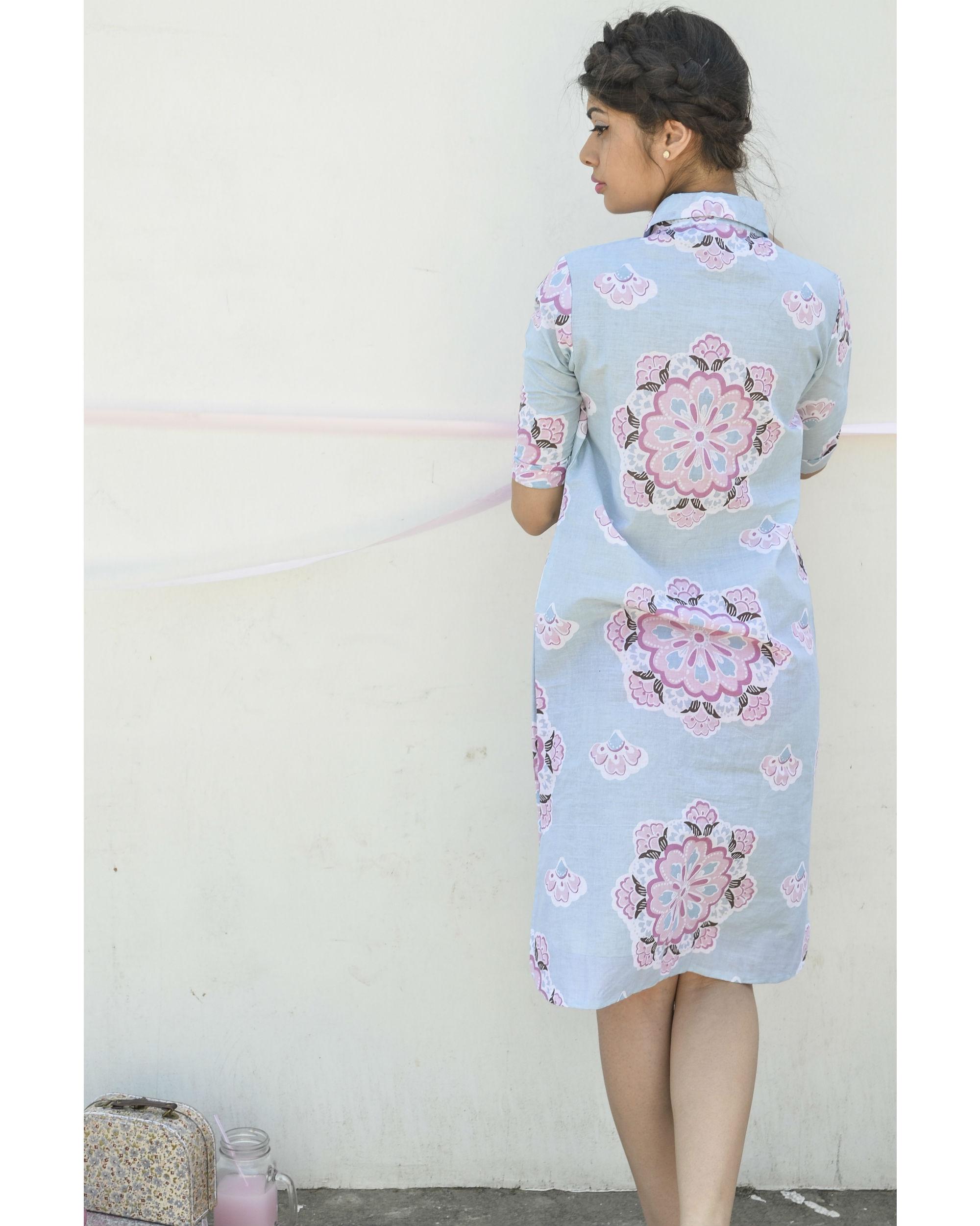 Pastel blue shirt dress by BAISE GABA | The Secret Label