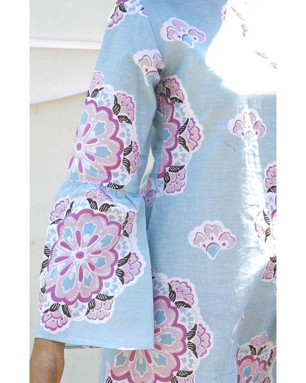 Vintage blue a-line dress 2