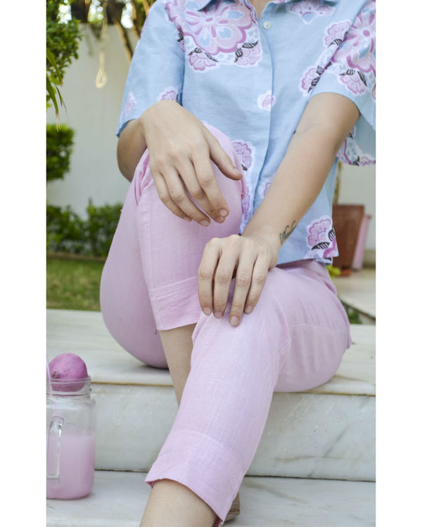 Pastel pink ankle length trouser 1