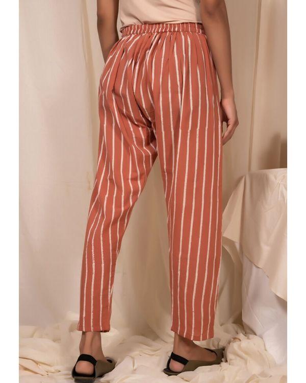 Peach striped pants 1