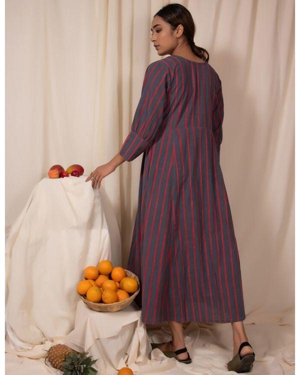 Grey striped maxi dress 3