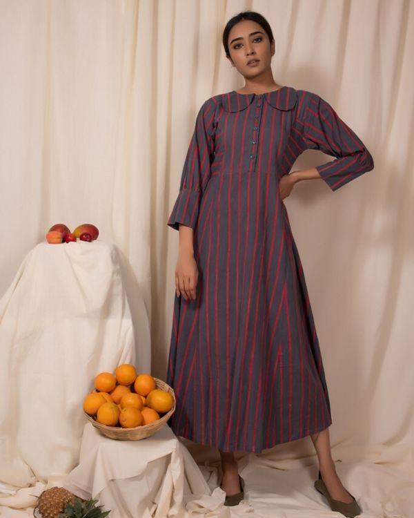 Grey striped maxi dress 2