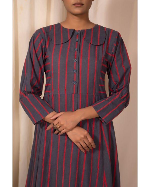 Grey striped maxi dress 1