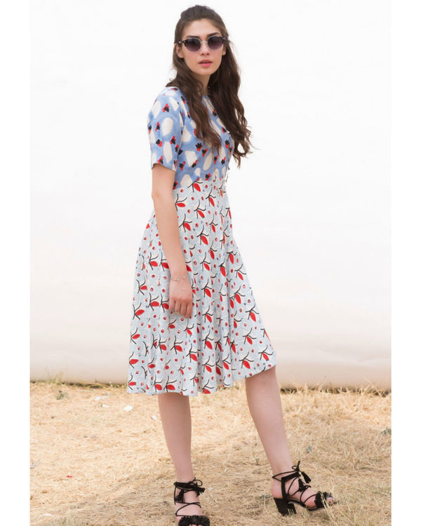 FLINSTONE AND CORNFLOWER DAY DRESS 1