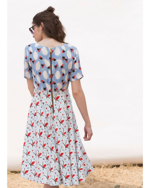 FLINSTONE AND CORNFLOWER DAY DRESS 2