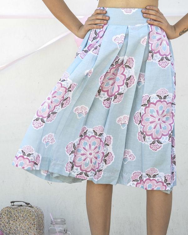 Blue high waisted skirt 2