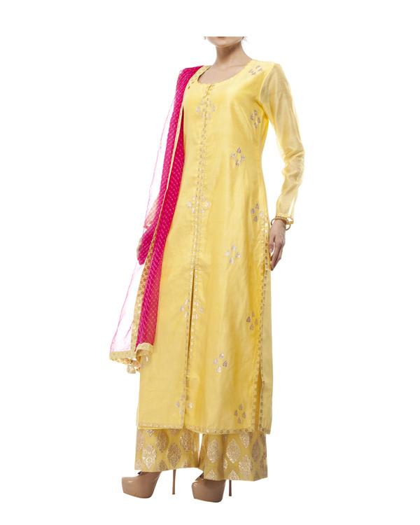 Yellow Chanderi kurta set 2