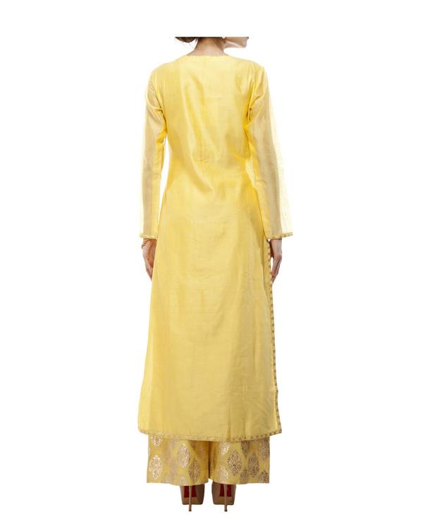 Yellow Chanderi kurta set 4