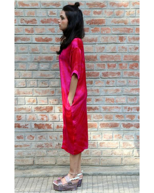 Pink midi dress 1