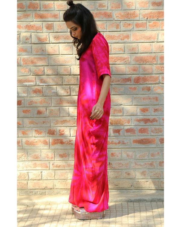 Pink cowl dress 1