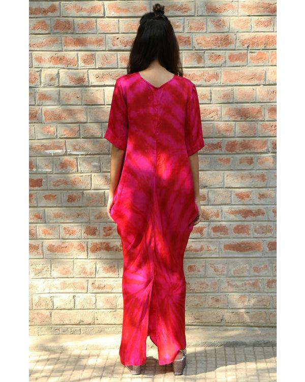 Pink cowl dress 2