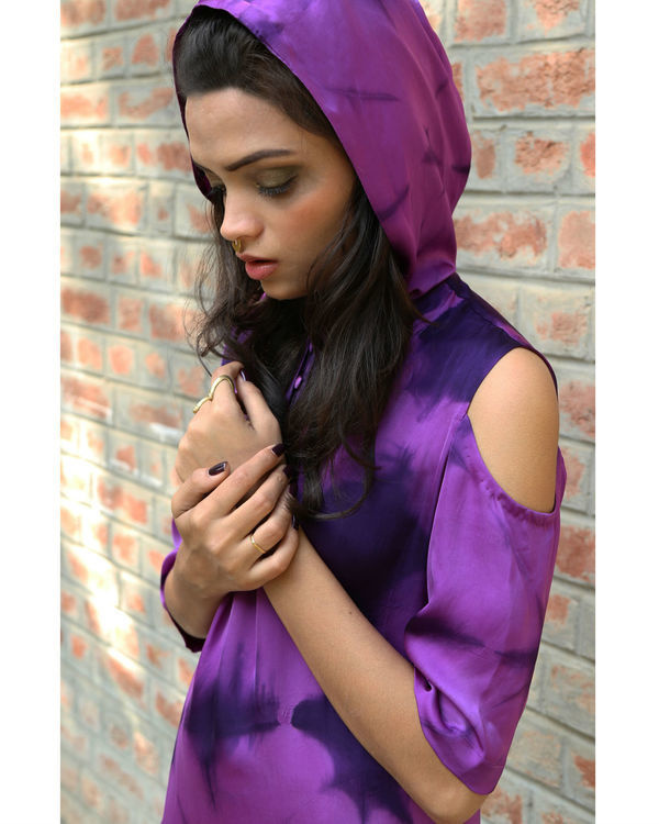 Purple hoodie dress 1
