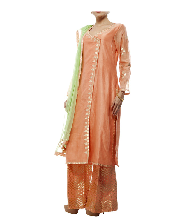 Chanderi straight kurta set 3