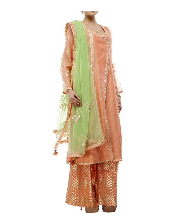 Chanderi straight kurta set 4