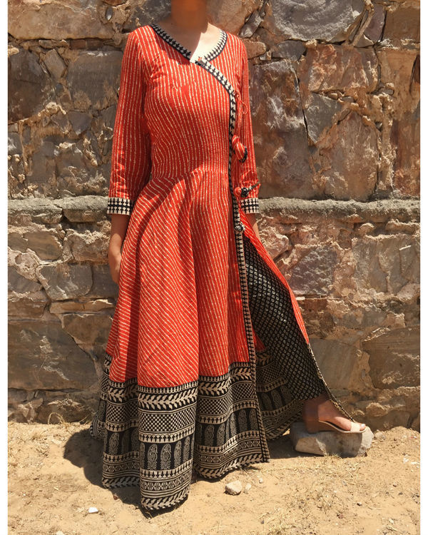 Angrakha cape with Printed Pants 1