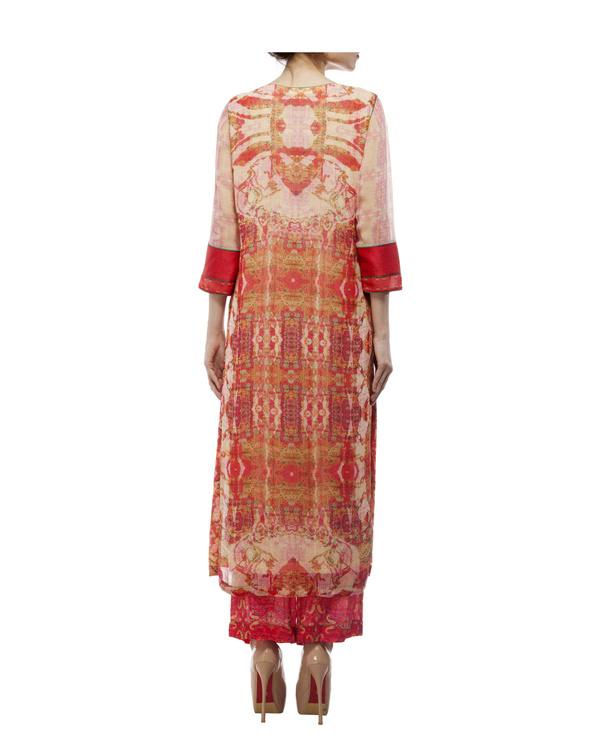 Kantha yoke with printed kurta and printed palazzo 3