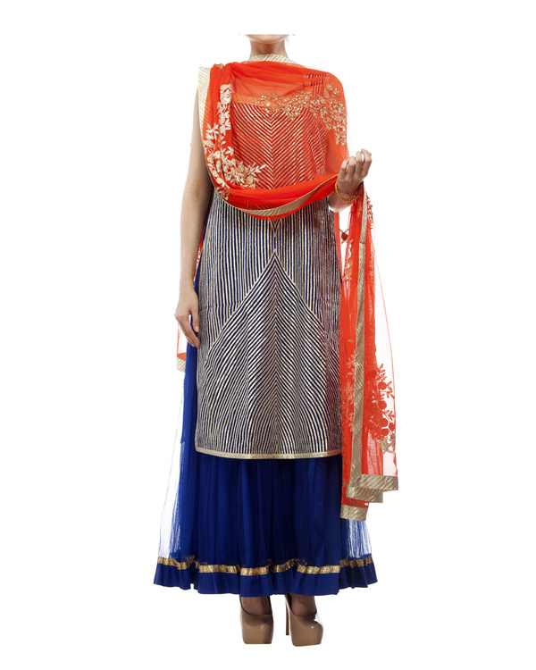 Blue Gotasheen kurta set 4