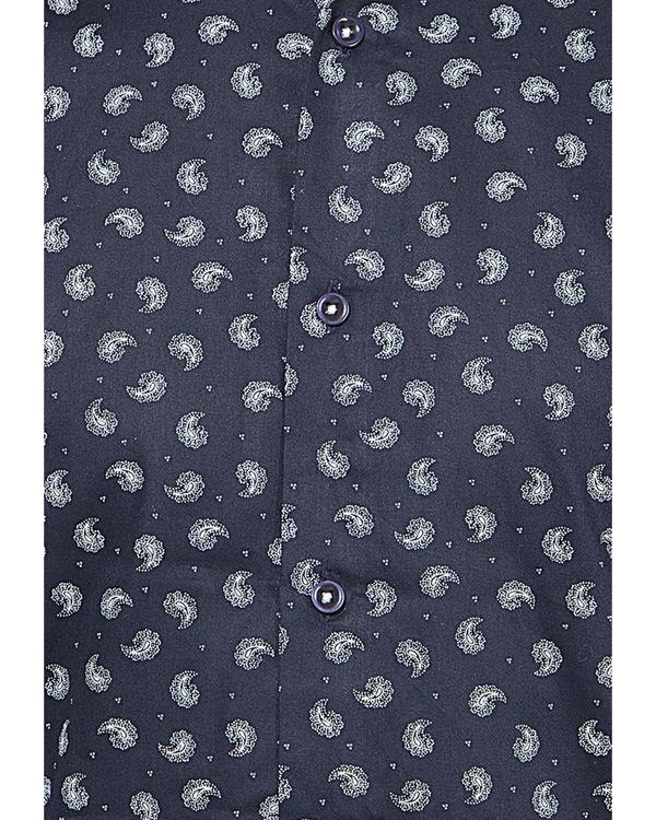 Blue ambi printed casual shirt 2