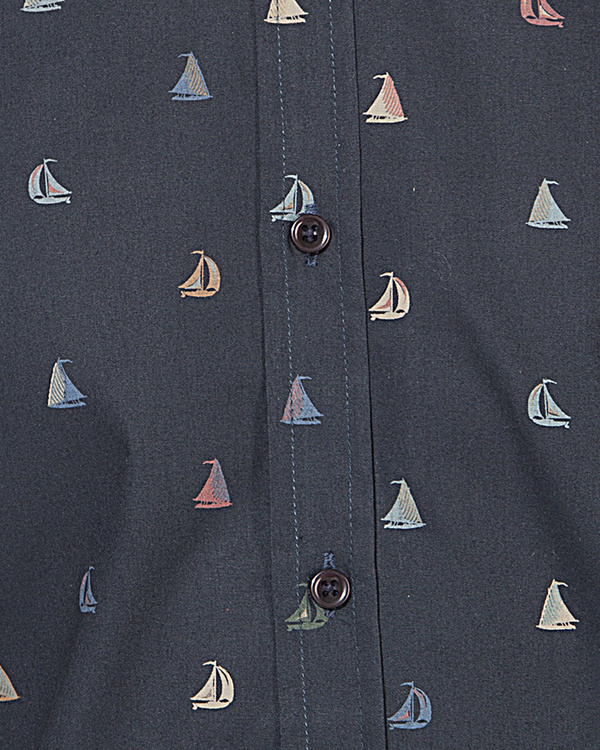 Blue boat printed casual shirt 2