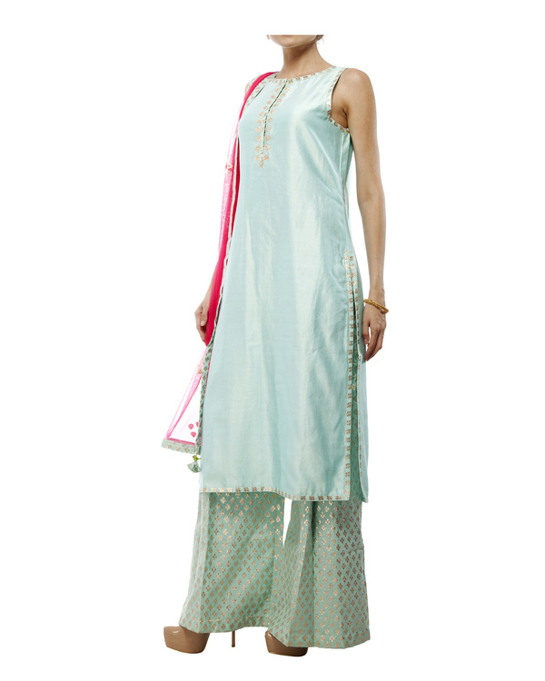 Pale Blue Chanderi Kurta set 2