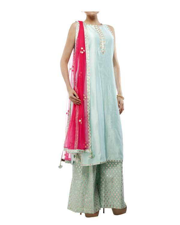 Pale Blue Chanderi Kurta set 3