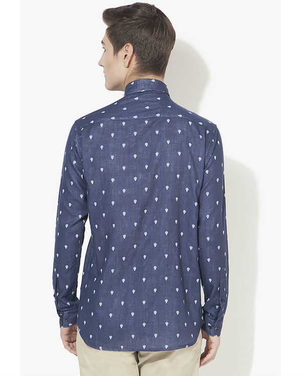 Blue bulb printed casual shirt 1