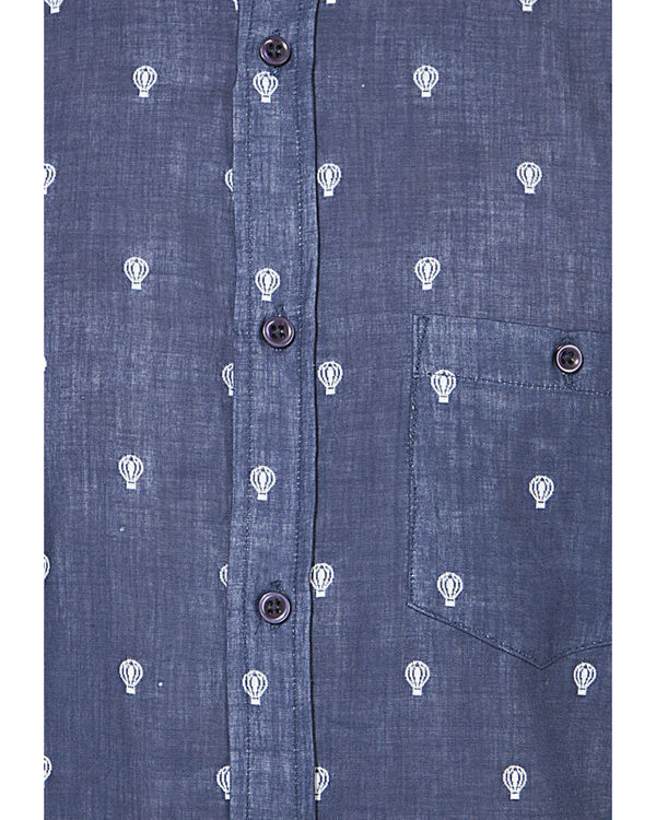 Blue bulb printed casual shirt 2