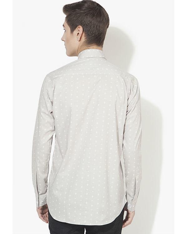 Grey tribal printed casual shirt 1