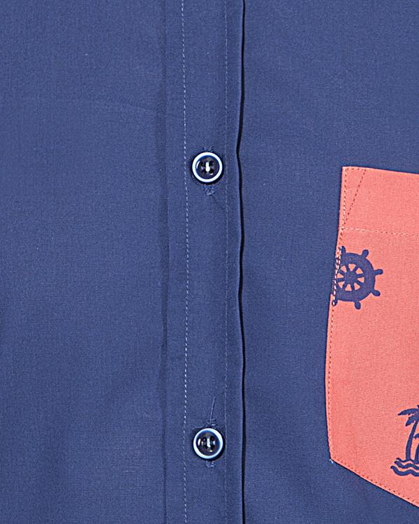 Pink pocket panel casual shirt 2