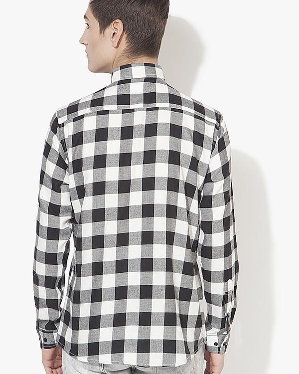 Black & white checks casual shirt 1
