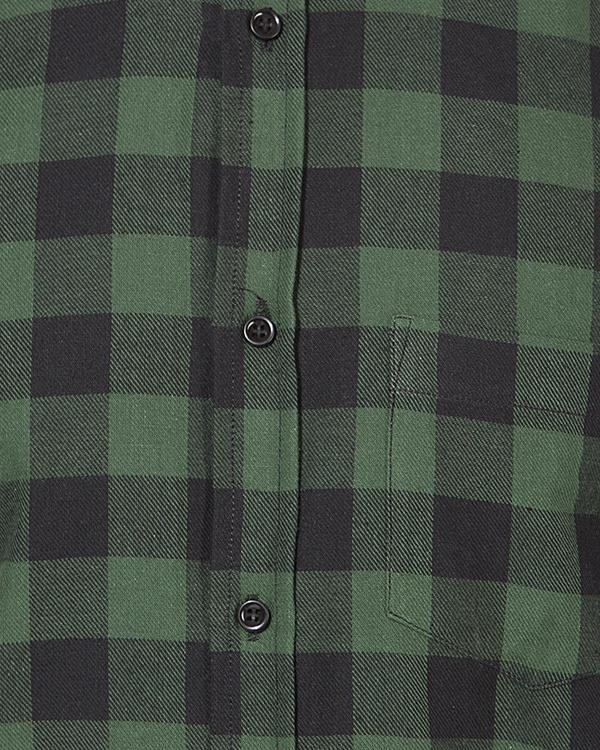 Black & green checks casual shirt 2