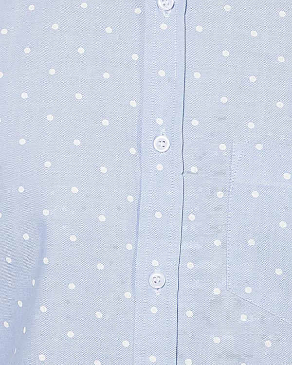 Light blue polka dot printed casual shirt 2