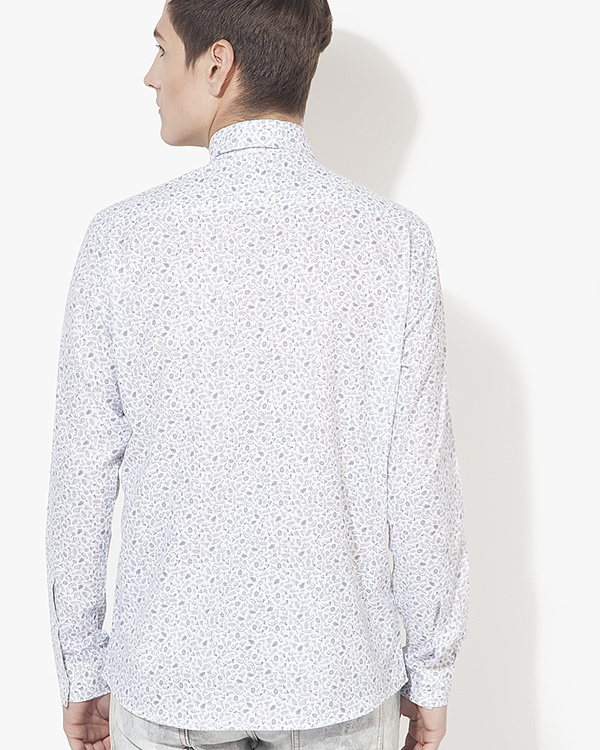 White printed casual shirt 1