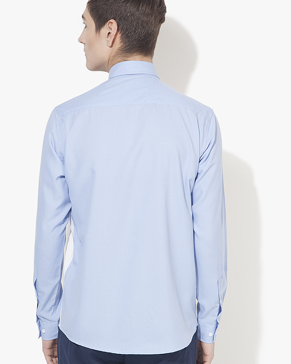 Light blue & white panel casual shirt 1