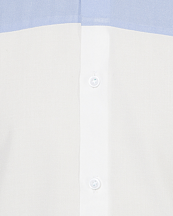 Light blue & white panel casual shirt 2
