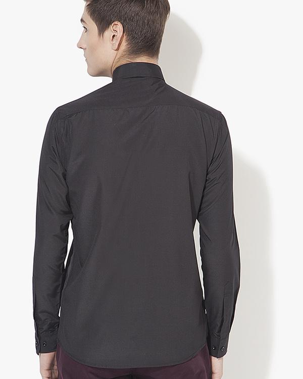 Grey & black panel casual shirt 1
